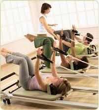 Pilates group reformer classes